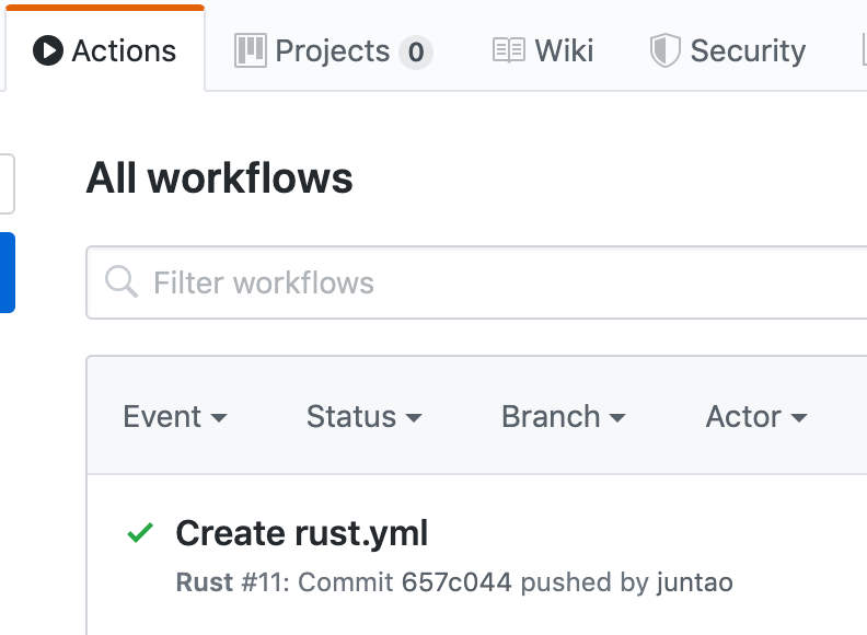 Every push to the GitHub repo will trigger the actions to run